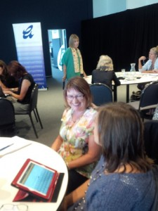 Alison working with literacy leaders in Hobart Australia