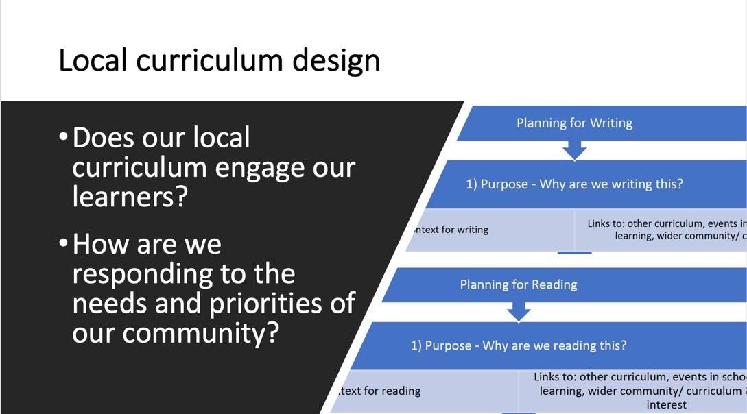 Local curriculum design